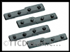 Peco IL-717 Cosmetic (dummy) fishplates for joining bullhead to flat bottom